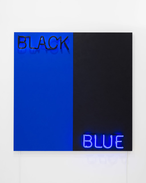 Deborah Kass, 'Black and Blue', 2015, Painting, Acrylic and neon on canvas, CHART