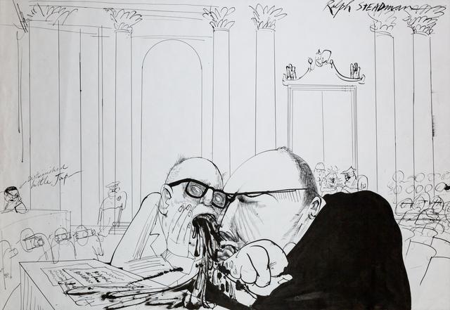 Ralph Steadman, 'Defendant', 1972, The Chambers Project