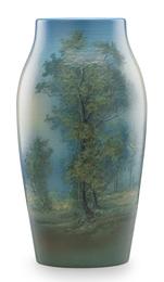 Exceptional large Scenic Vellum vase, Cincinnati, OH
