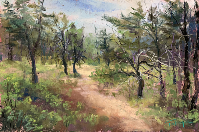 Takeyce Walter, 'Day 16: Pines on the Preserve ', February 2020, Painting, Pastels, Keene Arts