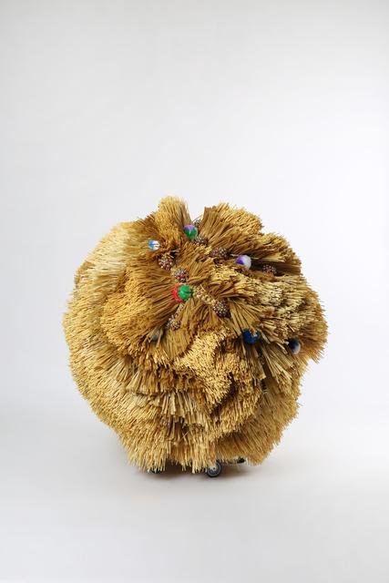 , 'The Intermediate – Ceremonial Pom-pom Ball,' 2015, dépendance