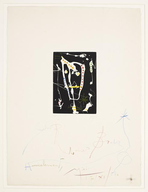 Joan Miró, 'Les Brisants', 1958, Galerie Maximillian