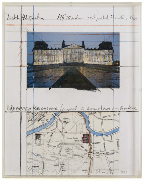 , 'Wrapped Reichstag: project for Berlin Platz der Republik,' 1992, Repetto Gallery