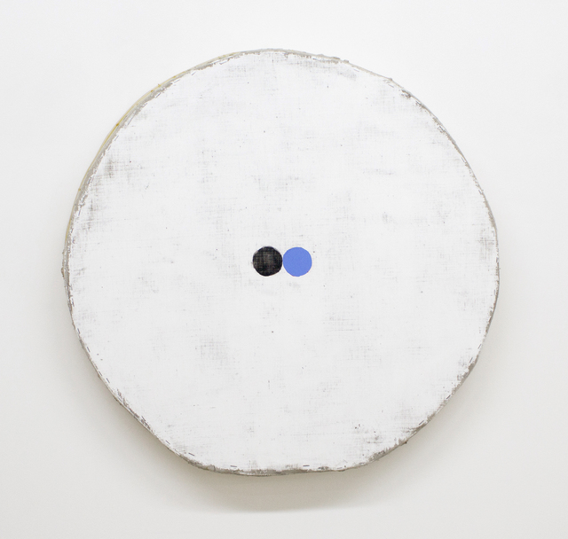 , 'White with Blue and Black Circles,' 2017, Marc Straus