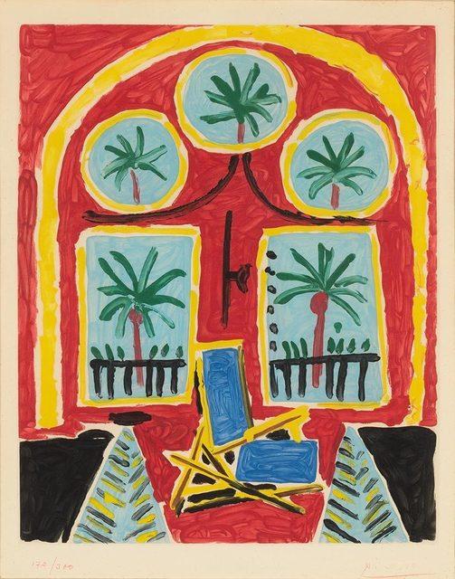 Pablo Picasso, 'La Fenêtre De L'Atelier À La Californie (Maeght 2102)', 1959, Print, Color aquatint, on Rives BFK paper, Doyle