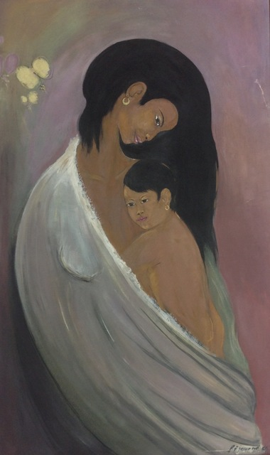 , 'Mother and Child,' 1966, Myriam Nader Haitian Art Gallery