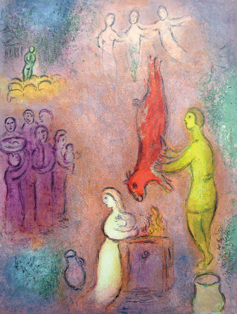 Marc Chagall, 'Sacrifices Made to the Nymphs', 1961, Print, Original lithograph printed in colors on Arches wove paper., Galerie d'Orsay