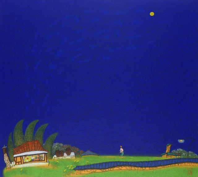 , '1. 초저녁, 145x130cm,' 2014, Gallery Miroonamu