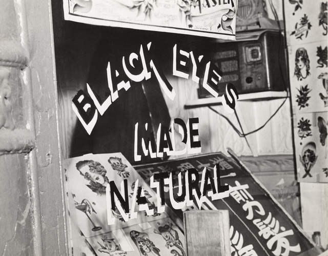 , 'Shop Window of Tattoo parlor,' 1943, Mana Contemporary