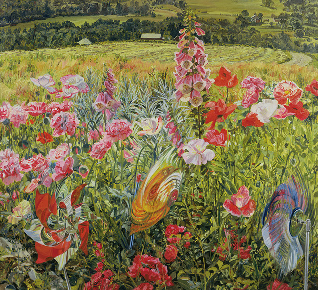 , 'Pinwheels and Poppies,' 1990, DC Moore Gallery