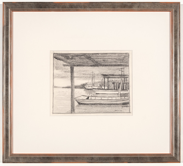 Rolland Golden, 'Untitled - South Louisiana Boats', ca. 1960, Mac-Gryder Gallery