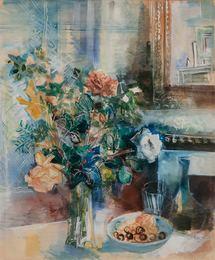 Coupe de Fruits et Bouquet de Fleurs a L'atelier