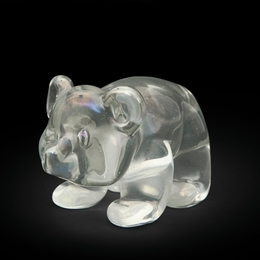 Baby bear figure crystal made