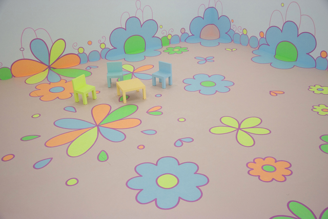 , 'Flower Floor Painting,' 2010, Hammer Museum