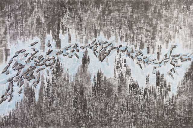 Chen Xi 陈熹, 'Details of my abstract painting that form a parallel world composed of machines. NO. 25', 2014, A+ Contemporary