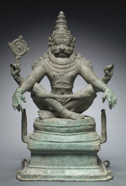 , 'Vishnu in his man-lion incarnation as Yoga-Narasimha. India; Tamil Nadu state,' 1250, Asian Art Museum