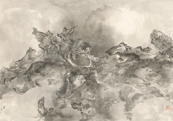 , 'Rocks Thrusting through Clouds (ii) 烈石穿云Ⅱ,' 2016, Ink Studio