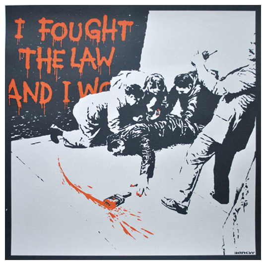 Banksy, 'I Fought the Law (Unsigned)', 2004, Lougher Contemporary
