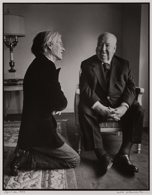 Jill Krementz, 'Andy Warhol and Alfred Hitchcock', 1974, Doyle