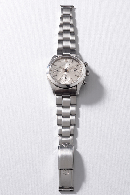 Rolex, 'A rare and attractive stainless steel chronograph wristwatch with silvered dial, tachymeter scale and bracelet', Circa 1964, Phillips
