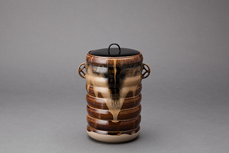 , 'Water container (mizusashi) with lacquer lid, shippo design handles, and sendanmaki incising,' 2014, Pucker Gallery