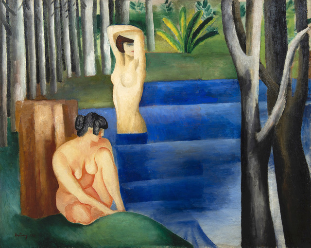 Moise Kisling, 'Les deux baigneuses', 1917, HELENE BAILLY GALLERY
