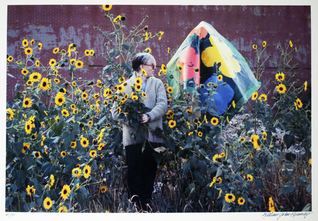 William John Kennedy, 'Andy Warhol with Taylor Mead holding the Flowers canvas', 1964, William John Kennedy Collection