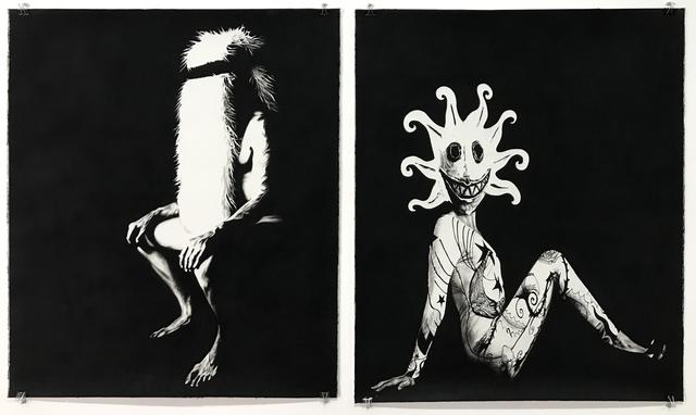, 'Ahab Sitting / Queeqeg Sitting,' 2016, Coagula Curatorial