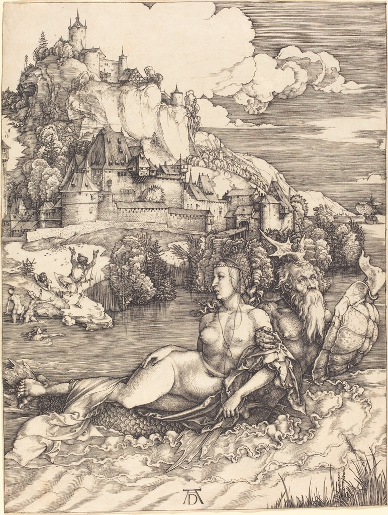 "Albrecht Dürer, 'Sea Monster (""Das Meerwunder""),' ca. 1498, National Gallery of Art, Washington, D.C."