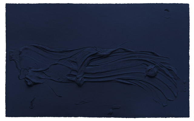 , 'Untitled Prussian Blue,' 2014, Mixografia