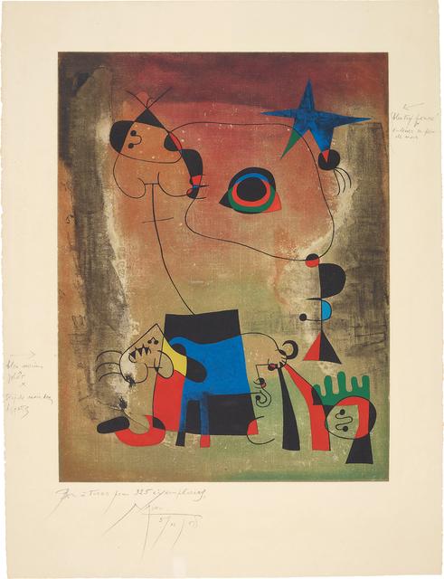 Joan Miró, 'Le chien bleu (The Blue Dog)', 1958-59, Phillips