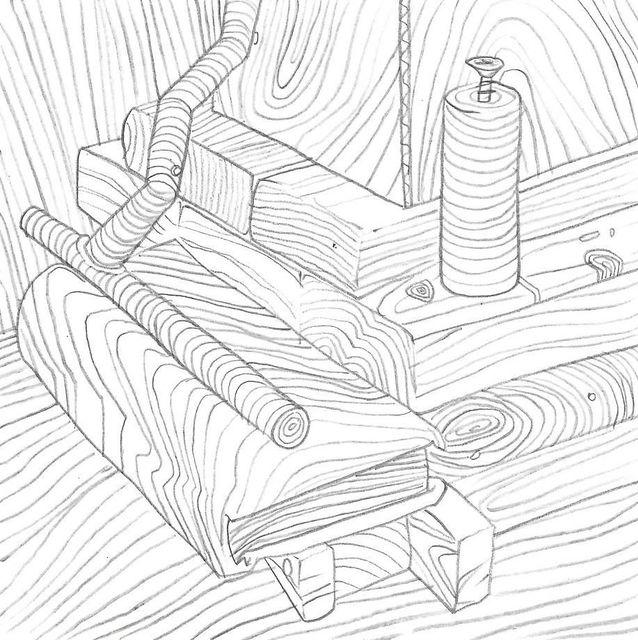 , '7x7 Collaborative Drawing (#156),' 2012, Mark Moore Fine Art