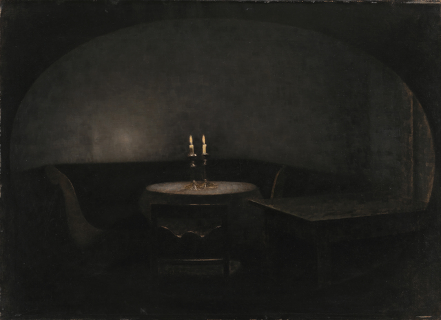 , 'Interior. Artificial Light,' 1909, Statens Museum for Kunst