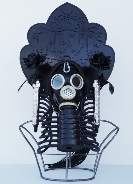 ", 'Kokosnik - Gas Mask ""Love"",' 2016, 11.12 Gallery"