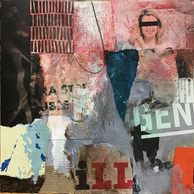 Mikel Frank, 'Gen iLL', 2020, Drawing, Collage or other Work on Paper, Mixed Media Collage, Dab Art