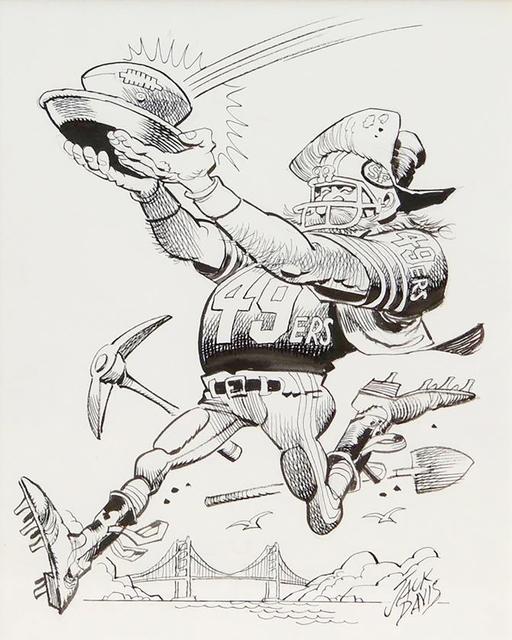 Jack Davis, 'San Francisco 49ers Football Illustration', 1990, The Illustrated Gallery