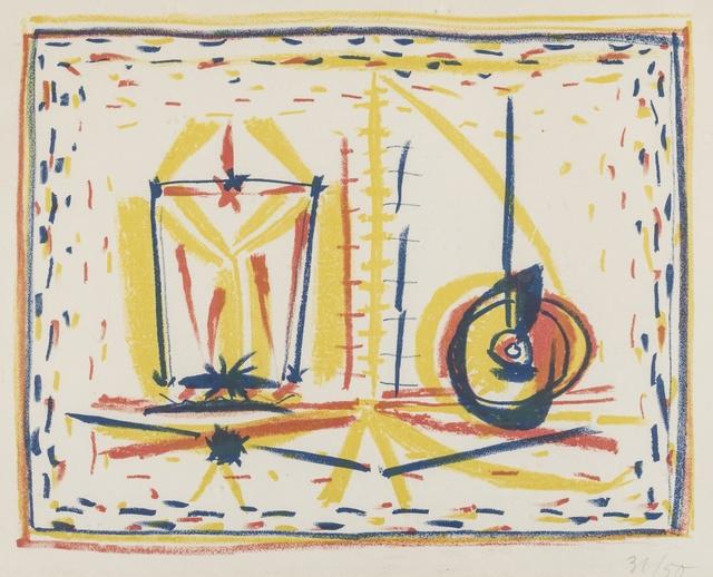 Pablo Picasso, 'Compostion au verre et a la pomme (Composition with Glass and Apple) (Mourlot 33)', 1946, Forum Auctions