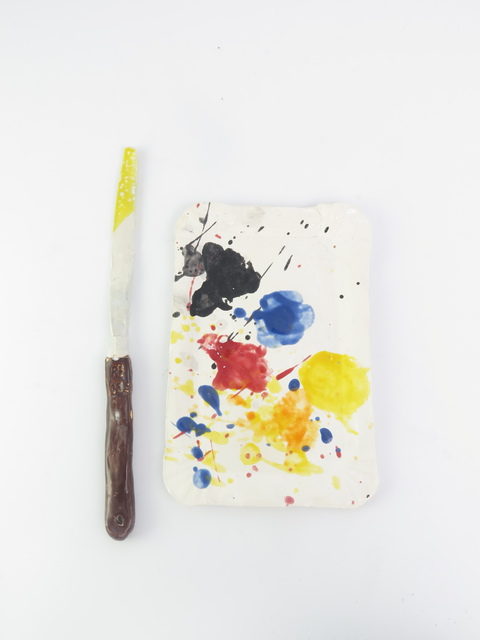 , 'Sausage papertray palette with spatular,' 2015, V1 Gallery