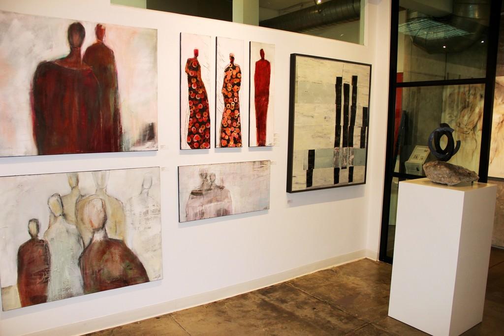 Edith Konrad and Heny Steinberg artworks, Michael Habicht sculpture