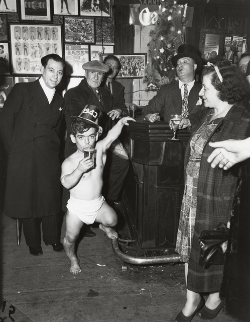 , 'Shorty, The Bowery Cherub, New Year's Eve at Sammy's Bar,' 1943, Mana Contemporary