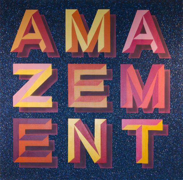 , 'Amazement (Blue glitter),' , MUCA