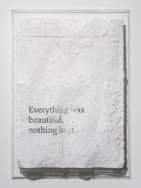 , 'Everything was beautiful, nothing hurt.,' 2016, Blindspot Gallery