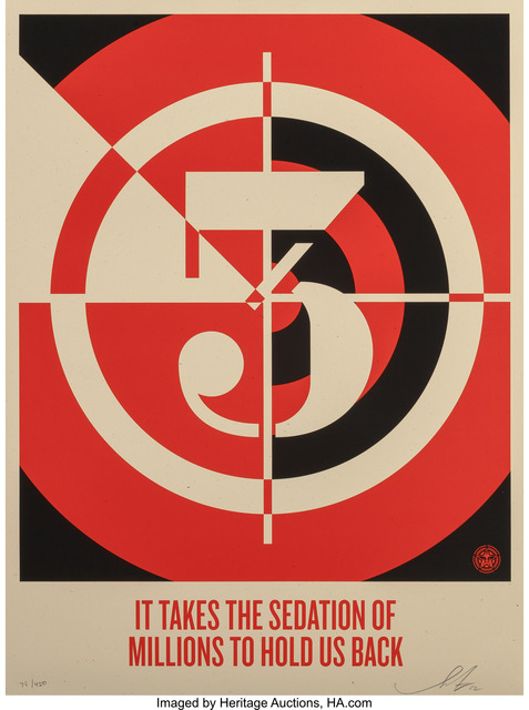 Shepard Fairey, 'Sedation of Millions', 2012, Heritage Auctions