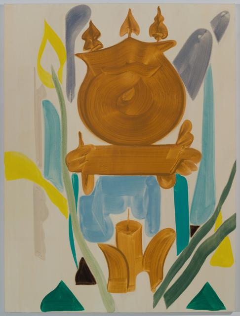, 'Teal Clock,' 2016, Marta Cervera