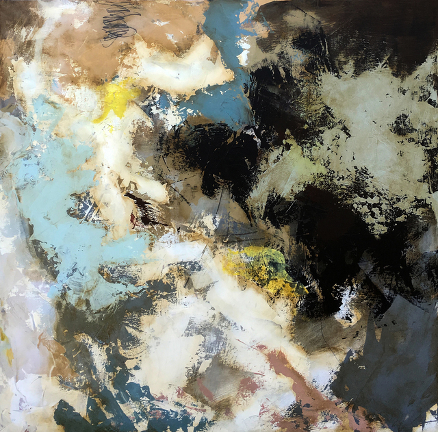 """Luis Garcia-Nerey, '""""Summit Stamp""""', Painting, Mixed media on panel with Matte UV Resin, Parlor Gallery"""