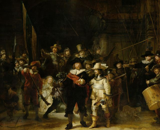 Rembrandt van Rijn, 'The Company of Frans Banning Cocq and Willem van Ruytenburch (The Night Watch)', 1642, Painting, Oil on canvas, Rijksmuseum