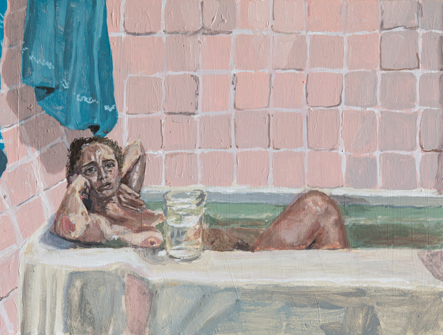 , 'Pink Bath with Jar,' 2017, John Davis Gallery