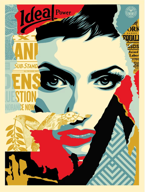 Shepard Fairey (OBEY), 'Ideal Power', 2017, Art for ACLU Benefit Auction