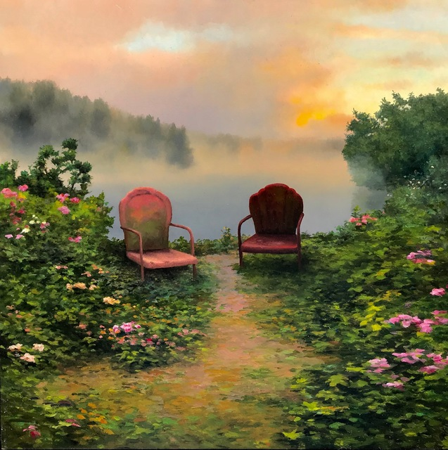 , 'Two Chairs by the River,' , William Baczek Fine Arts
