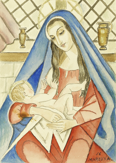 Marie Vorobieff Marevna, 'Madonna and child', 1956, Roseberys